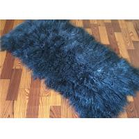 2 *4' Navy Blue Mongolian Fur Throw Blanket , Large Sofa Throws Anti Wrinkle Manufactures