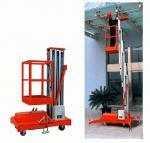 Single Mast aluminium work platform / Hydraulic Lift Platform with large Load capacity Manufactures