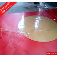 Round Acrylic Display Stands Plastic Display Stands For Cake Wedding Party Manufactures