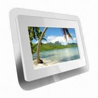 7-inch White Digital Photo Frame with 12V DC Power Supply and 480 x 234p Resolution Manufactures