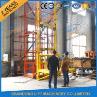 China 700kgs 4m Warehouse Elevator Lift Vertical Guide Rail Lift Vertical Cargo Lift Elevator CE TUV on sale
