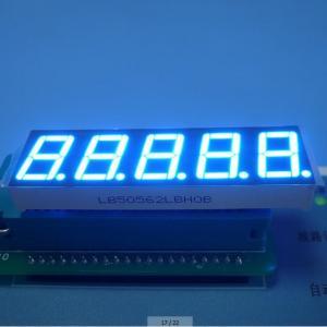 "Ultra Blue 5 Digit 7 Segment Display Eco Friendly Custom 100 mcd 0.56"" Manufactures"