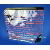 China Slider ziplock bag with writable panel for easy label, reclosable slider plastic bags, snack plastic cosmetic slider pac on sale