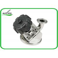 Aseptic Tri Clamp Tank Bottom Valve Sanitary With Manual Turning Knob Operation Manufactures