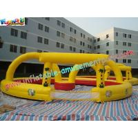 PVC Inflatable Sports Games Race Track , Inflatable Car Race Track Manufactures