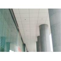 railway station Perforated Lay In Ceiling Tiles Square With aluminum , 350mm * 350mm Manufactures