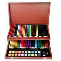 Children Art Set, 91 pieces in a nice elegant wood box Manufactures