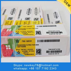 China Full Package Windows 10 Pro OEM Key / Windows 10 Home Key Code DHL Free Shipping on sale