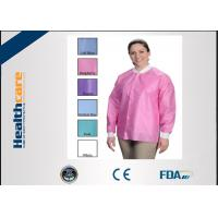 China OEM Sterile Disposable Visitor CoatsWith Buttons , Disposable Hospital Scrubs on sale