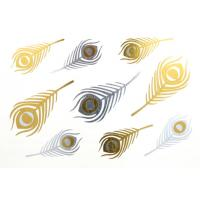 Gold and silver foil metallic jewelry tattoo, quick delivery, good quality Manufactures