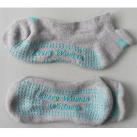 China Knitted Yoga Grip Socks Better Body Movements Control With Jacquard Logo on sale