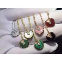 Luxury Gold Jewelry Amulette De Necklace 18K Yellow Gold Diamond Pendant Necklace Factory Price Manufactures
