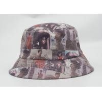 Printint Logo Waterproof Fishing Bucket Hat 100% Cotton PU Leather Fabric