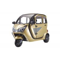 ABS Engineering Plastic Enclosed Electric Tricycle 1000 W With 3 Seats Adjustable Seat Manufactures