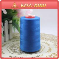 China Blue Color Spun Polyester Yarn For Sewing Thread High Tenacity on sale