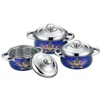 China Food Grade Stainless Steel Cookware Sets 16cm To 20cm Sauce Pot 0.5mm Thickness on sale