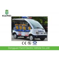 4 wheels Battery Powered Electric Passenger Car / Security Patrol Bus With Alarm Lamp Manufactures