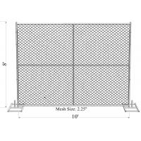 8'x14' chain link fence panels pipe 41.2mm chain link mesh 57mm x 57mm x 3.00mm hot dipped galvanized  2 oz/ft2 610 g/m Manufactures