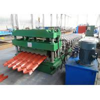 Galvanized Steel Roof Tile Roll Forming Machine With Improved 3D Cut Manufactures