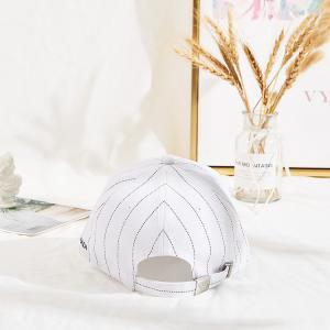 Marino Madi white color black strip hip-hop baseball cap hat Manufactures