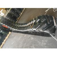 Black Color Paver Rubber Tracks Customized Size With Less Vibration Manufactures