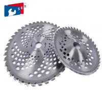China Cutting Grass Bush 255mm Circular Saw Blade , Lawn Mower Blades 25.4mm Hole on sale