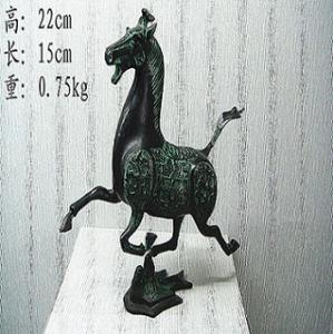 antique bronze Horse Treading on  Swallow
