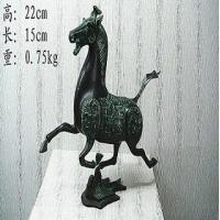 Quality antique bronze Horse Treading on  Swallow for sale