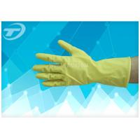 100% Natural Latex Household Gloves With Dipped Flocklined Washing Rubber Gloves Manufactures