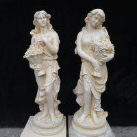 Classic Colored Garden Statue Marble Four Season Lady Sculpture with Grapes Manufactures