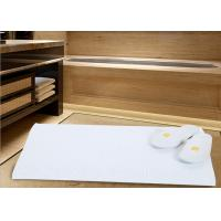 White Color Modern Hotel Bath Mats For Bathroom Area Microfiber Material Manufactures
