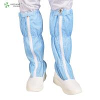 Blue And White Anti Static Shoes , ESD PU Non Slip Work Boots For Cleanroom Manufactures