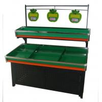 Single-Side Two Tier Fresh Fruit And Vegetable Display Rack For Supermarket Manufactures