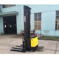 China Automatic Lifting Long Life Electric Pallet Stacker Battery Powered 1500kg Capacity on sale