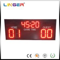 High Brightness Electronic Soccer Scoreboard With Aluminum Cabinet Manufactures