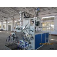 PLC control Hollow Wall Pipe Winding Machine 240kw , Plastic Pipe Extrusion Line Manufactures