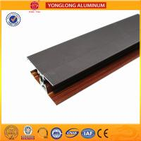 Custom Wood Finished Aluminium Profiles For Windows And Doors Manufactures