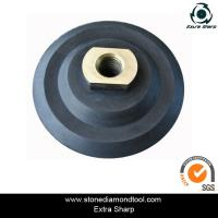 80mm rubber flexible polishing backer pads for air grinder Manufactures