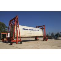 Heavy Duty Mobile Container Crane Steel Red Color For Seaport Transportation Manufactures