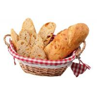 China wicker bread baskets with mat handle wicker fruit basket willow bread baskets different color customize dimension on sale