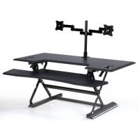 Stand Up Computer Workstationholds 2 Monitors With Retractable Keyboard Tray 48 inch Manufactures