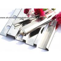 Popular Type 10mm Stainless Steel Bullnose Corner Tile Trim With Square Edge Manufactures