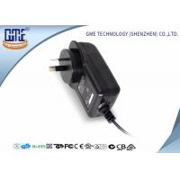 AC DC Wall Plug Adapter 12V 2A / Wall Mount Power Supply Black Color Manufactures
