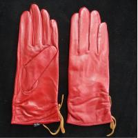 Leather Womens Waterproof Gloves , Sheepskin Womens Leather Dress Gloves Manufactures