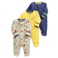 Spring Long Sleeve Unisex Kids Clothes 100% Organic Cotton Baby Boy Rompers Manufactures