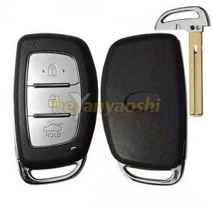 China Silver Button Pad Hyundai Smart Key Shell Without Logo / Car Key Case Shell on sale