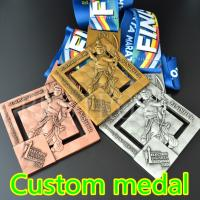 China Customized marathon medals, custom metal medals, honorary medals, sports medals, sports club medals, city sports medals on sale