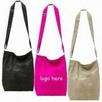 Stylish Canvas Shoulder Bags with Magnetic Button and Mobile Phone Pocket Inside, Comes in Black Manufactures