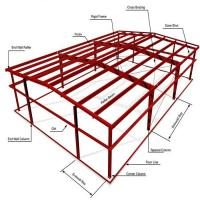 ASTM Warehouse Steel Structure / Prefab Steel Workshop With Free Design Manufactures