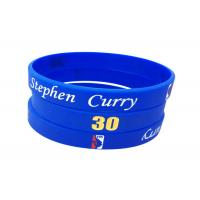 Quality Filled Color / Size Custom Silicone Bracelets , Debossed Silicone Bracelets for sale